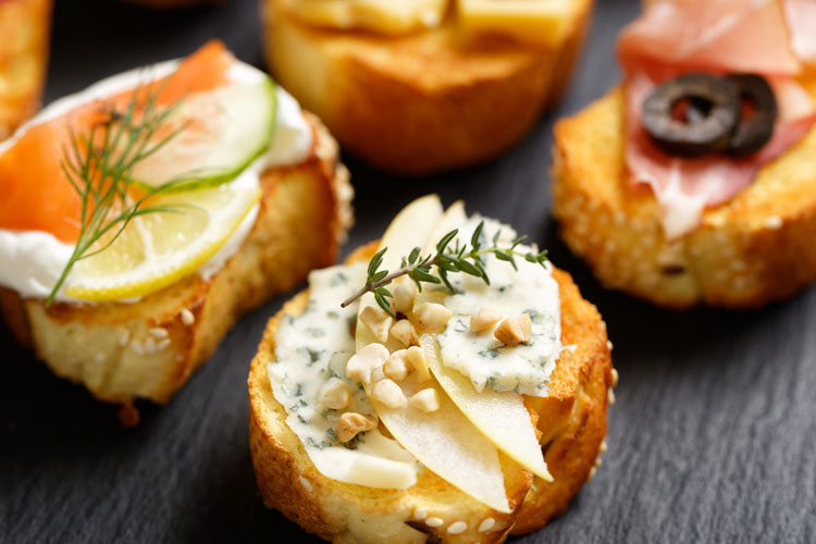Our favourite canap s to impress and delight your guests for Canape toppings ideas