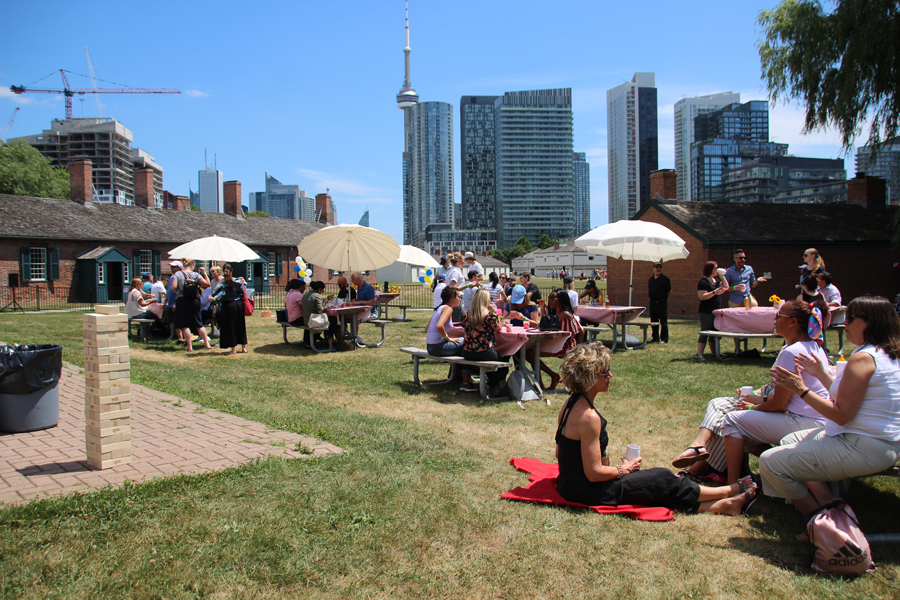 Catering for a BBQ Event at Fort York by en Ville Catering