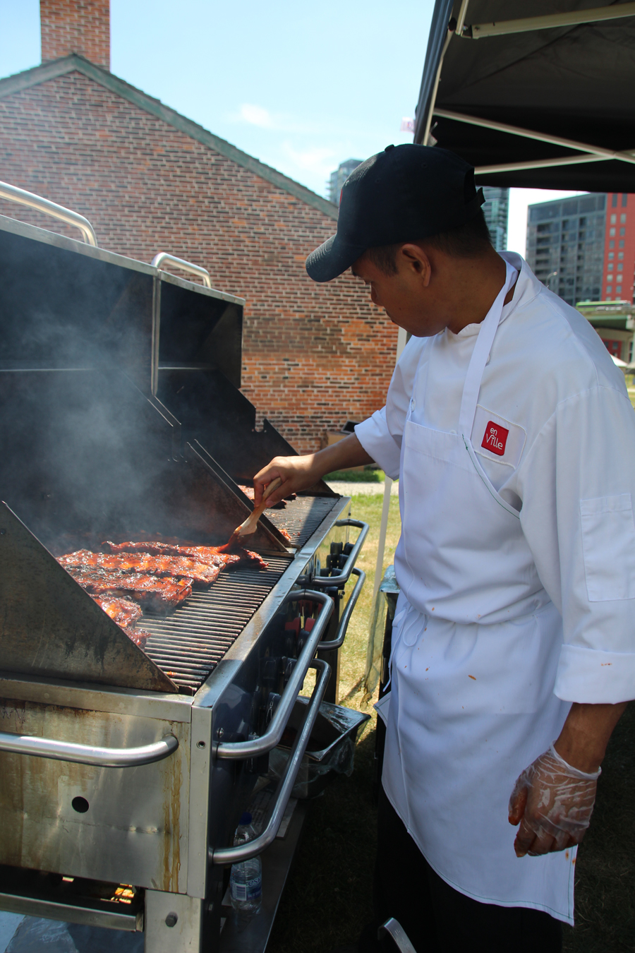 Catering for a BBQ Event at Fort Yorkby en Ville Catering