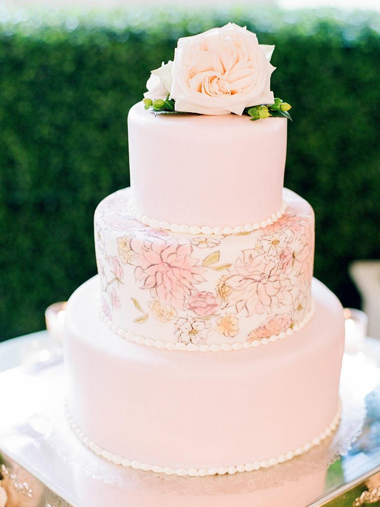 Floral Wedding Cake Design