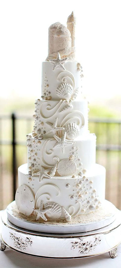 Sea-Themed-Wedding-Cake