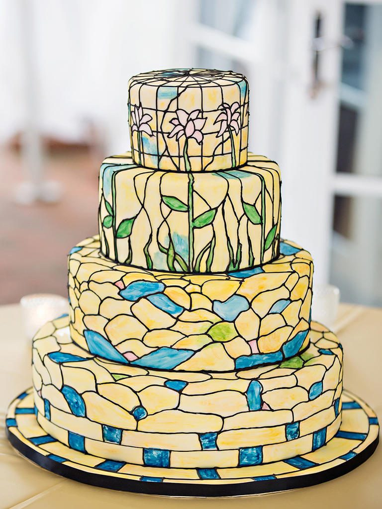 Stained Glass Cake Design