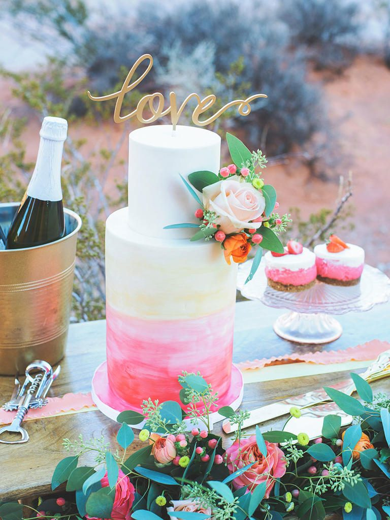 Sunset Ombre Cake Design