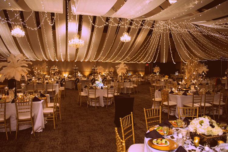 White, Silver and Gold Wedding Theme